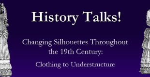 History Talks- Changing Silohuettes- proof purple